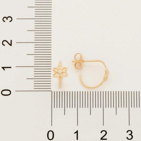 526503 brinco meia argola composta por flor vazada colecao cores da vida marca rommanel loja revendedora brilho folheados 2