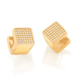 526505 brinco argola quadrada com zirconias colecao cores da vida marca rommanel loja revendedora brilho folheados