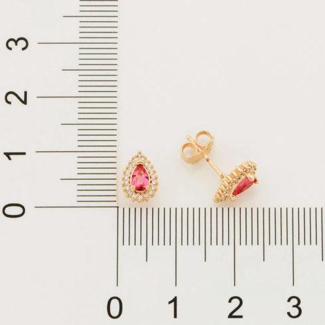 526512 brinco cristal gota rosa com zirconias colecao cores da vida marca rommanel loja revendedora brilho folheados 4