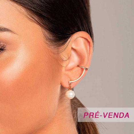 526526 brinco ear cuff com perolas barrocas marca rommanel loja revendedora brilho folheados foto modelo