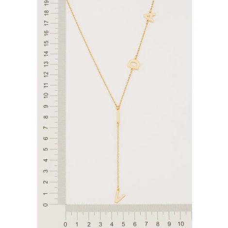 532060 gargantilha gravata formada por fios intercalados com letras formando a palavra vida colecao fe na vida rommanel loja brilho folheados 1