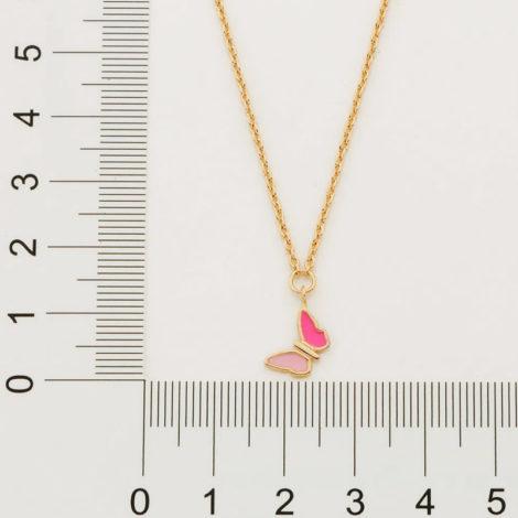 532081 gargantilha infantil pingente borboleta resina rosa colecao cores da vida marca rommanel loja revendedora brilho folheados 2