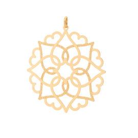 542254 pingente mandala solar vazada colecao cores da vida marca rommanel loja revendedora brilho folheados