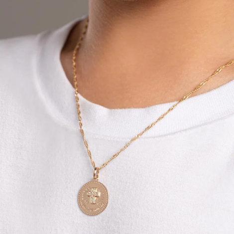 542256 pingente medalha minha primeira comunhao cruz cravejada com zirconia colecao cores da vida rommanel loja brilho folheados 3