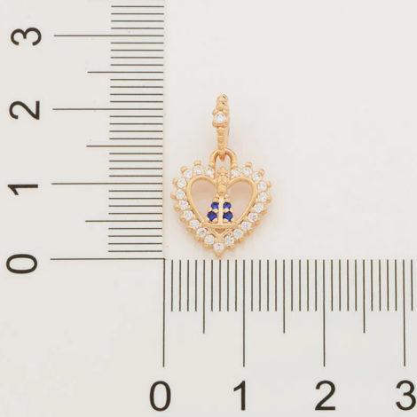 542259 pingente formato coracao pequeno com imagem de nossa senhora aparecida colecao cores da vida rommanel loja brilho folheados 1