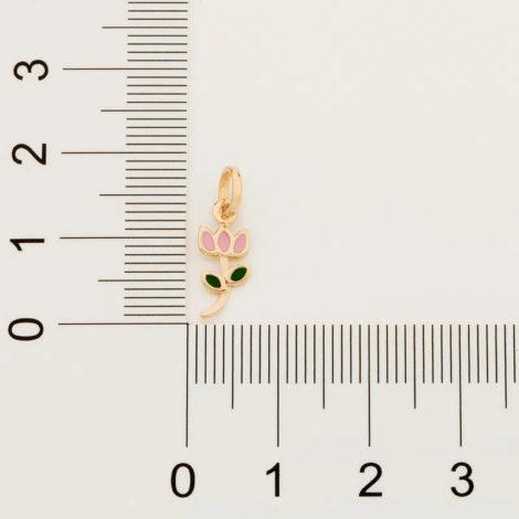 542261 pingente infantil tulipa colecao cores da vida rommanel loja brilho folheados 3