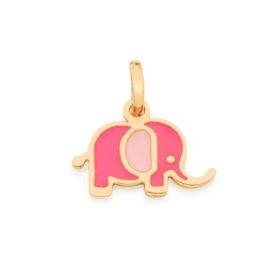 542264 pingente infantil elefante resina colorida colecao cores da vida rommanel loja brilho folheados 4