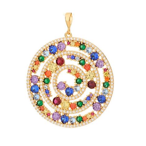 542268 pingente mandala roda da vida com zirconias coloridas colecao cores da vida marca rommanel loja revendedora brilho folheados 4