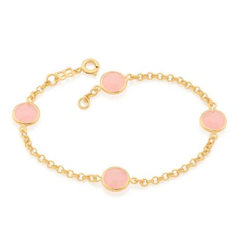 551671 pulseira composta com cristais redondo rosa colecao cores da vida marca rommanel loja revendedora brilho folheados