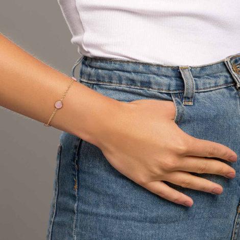 551671 pulseira composta com cristais redondo rosa colecao cores da vida marca rommanel loja revendedora brilho folheados foto modelo