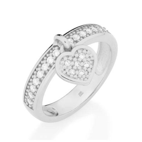 110443 anel pingente coracao com zircônias colecao dia dos namorados marca rommanel loja revendedora brilho folheados 1