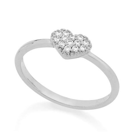 110696 anel coracao cravejado de zirconias colecao dia dos namorados marca rommanel loja revendedora brilho folheados