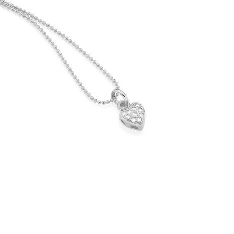 140662 pingente delicado mini coração com zircônias marca rommanel loja revendedora brilho folheados