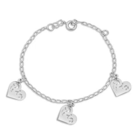 150224 pulseira coracoes com a palavra rio vazada marca rommanel loja revendedora brilho folheados