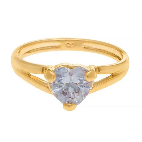 510901 anel solitario zirconia formato de coracao colecao dia dos namorados marca rommanel loja revendedora brilho folheados 2