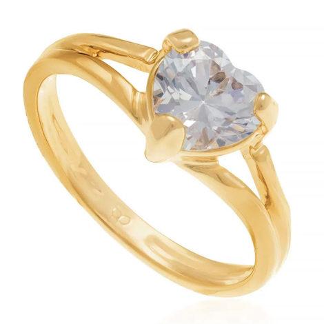 510901 anel solitario zirconia formato de coracao colecao dia dos namorados marca rommanel loja revendedora brilho folheados
