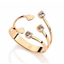 511273 anel ajustavel pontas com cristais e corações colecao dia dos namorados marca rommanel loja revendedora brilho folheados 1