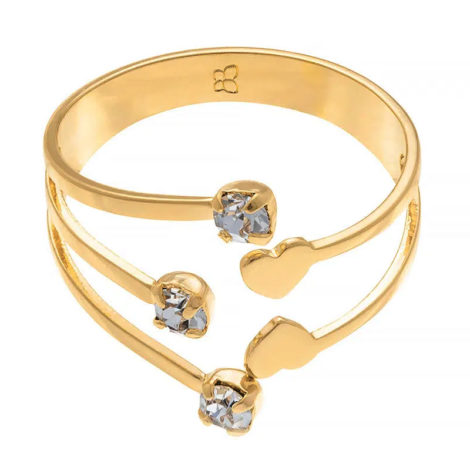 511273 anel ajustavel pontas com cristais e corações colecao dia dos namorados marca rommanel loja revendedora brilho folheados 3