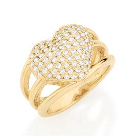 511357 anel coracao grande com zirconia aro vazado colecao dia dos namorados marca rommanel loja revendedora brilho folheados 1