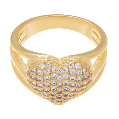511357 anel coracao grande com zirconia aro vazado colecao dia dos namorados marca rommanel loja revendedora brilho folheados 3