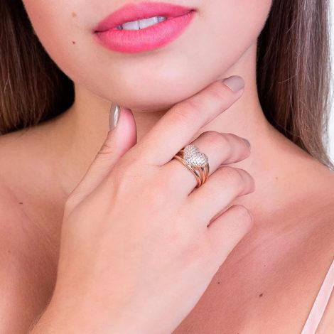 511357 anel coracao grande com zirconia aro vazado colecao dia dos namorados marca rommanel loja revendedora brilho folheados foto modelo 1