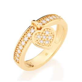 511376 anel pingente coracao com zircônias colecao dia dos namorados marca rommanel loja revendedora brilho folheados 1