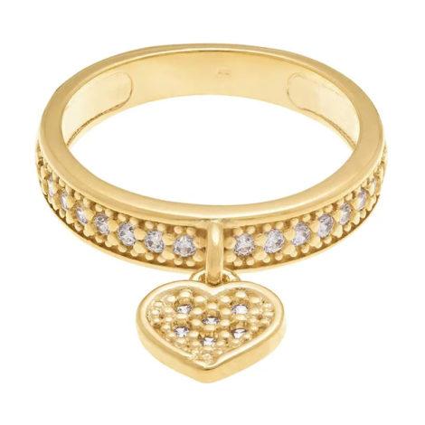 511376 anel pingente coracao com zircônias colecao dia dos namorados marca rommanel loja revendedora brilho folheados 3