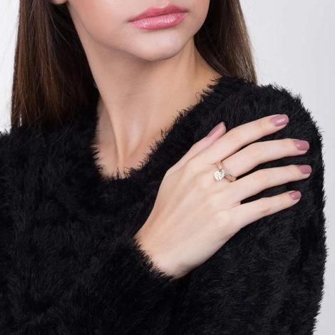 511376 anel pingente coracao com zircônias colecao dia dos namorados marca rommanel loja revendedora brilho folheados foto modelo 1