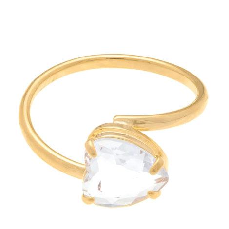 511598 anel aro liso cristal branco no formato de coração colecao dia dos namorados marca rommanel loja revendedora brilho folheados 2