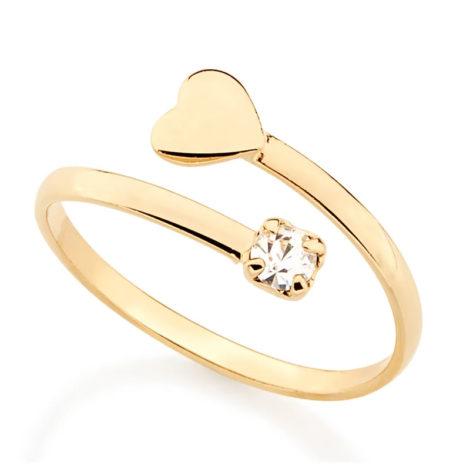 511895 anel ajustavel coração e cristal na ponta colecao dia dos namorados marca rommanel loja revendedora brilho folheados 1