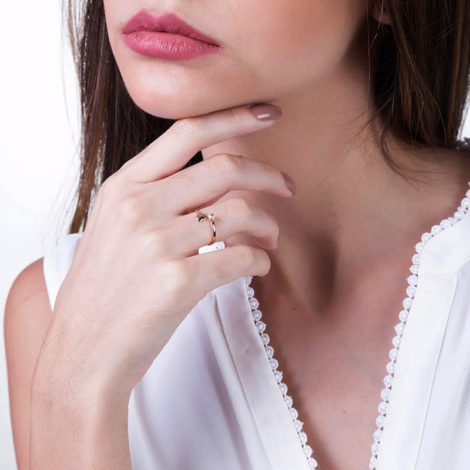 511895 anel ajustavel coração e cristal na ponta colecao dia dos namorados marca rommanel loja revendedora brilho folheados foto modelo 1