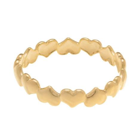 512156 anel formado por coracoes lisos e invertidos colecao dia dos namorados marca rommanel loja revendedora brilho folheados