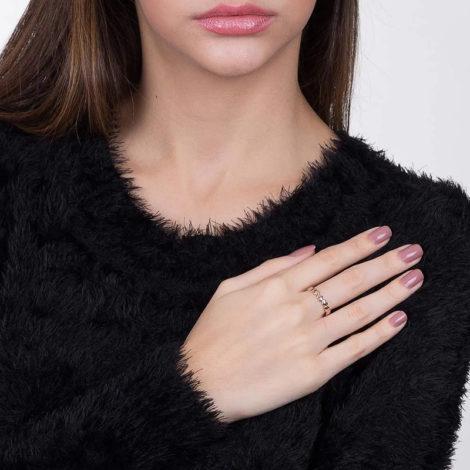 512156 anel formado por coracoes lisos e invertidos colecao dia dos namorados marca rommanel loja revendedora brilho folheados foto modelo