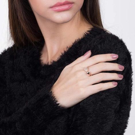 512174 anel coracoes nas pontas liso e com zircônias colecao dia dos namorados marca rommanel loja revendedora brilho folheados foto modelo