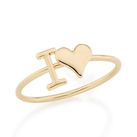 512206 anel aro liso descricao i love com coracao colecao dia dos namorados marca rommanel loja revendedora brilho folheados