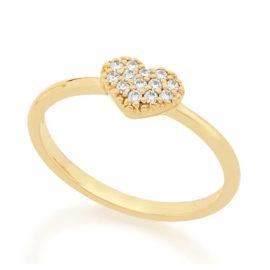 512333 anel coracao cravejado de zirconias colecao dia dos namorados marca rommanel loja revendedora brilho folheados