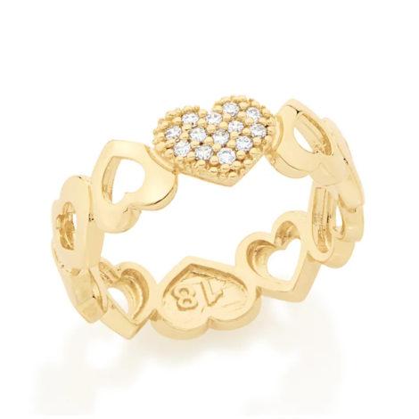 512334 anel aro formado por coracoes diferentes colecao dia dos namorados marca rommanel loja revendedora brilho folheados 1