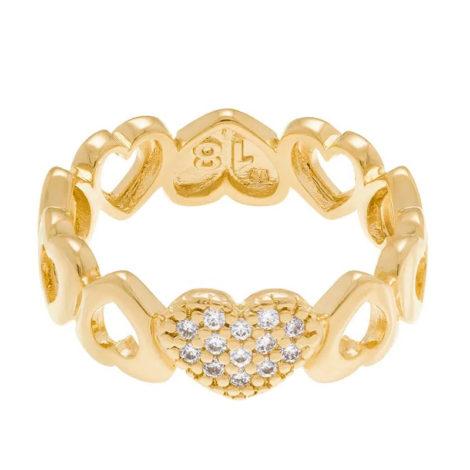 512334 anel aro formado por coracoes diferentes colecao dia dos namorados marca rommanel loja revendedora brilho folheados 3