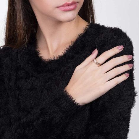 512334 anel aro formado por coracoes diferentes colecao dia dos namorados marca rommanel loja revendedora brilho folheados foto modelo 1