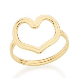 512346 anel coracao vazado com detalhe de linha colecao dia dos namorados marca rommanel loja revendedora brilho folheados 1