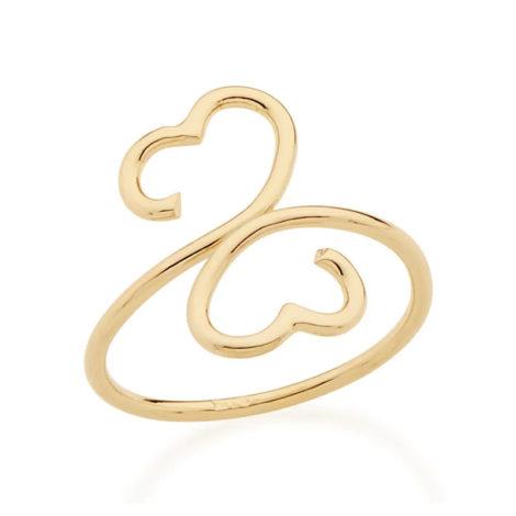 512350 anel aro aberto formando coracao nas pontas colecao dia dos namorados marca rommanel loja revendedora brilho folheados 1