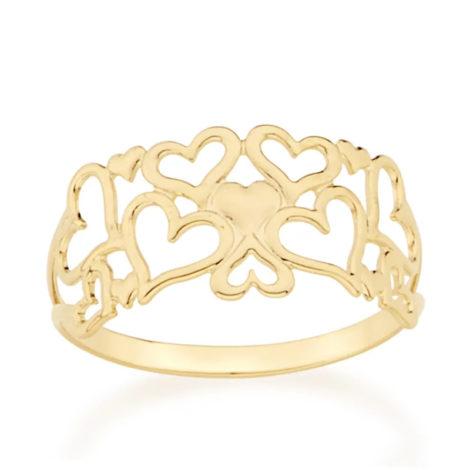 512357 anel coracoes de diferentes tamanhos colecao dia dos namorados marca rommanel loja revendedora brilho folheados 1