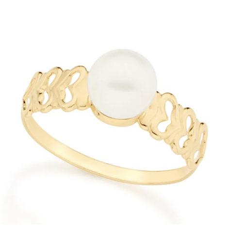 512358 anel delicado perola com coracoes nas laterais colecao dia dos namorados marca rommanel loja revendedora brilho folheados 1