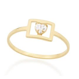 512385 anel quadrado vazado com zirconia coracao colecao dia dos namorados marca rommanel loja revendedora brilho folheados 1
