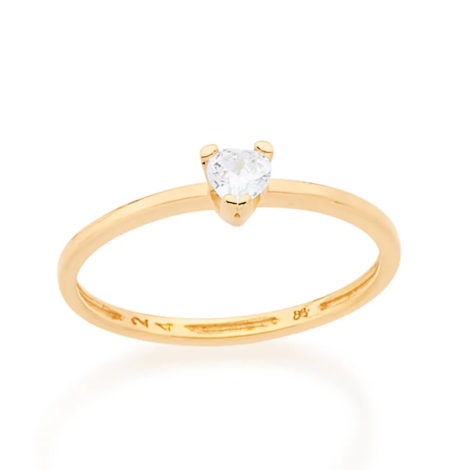 512556 anel solitario zirconia formato coracao colecao dia dos namorados marca rommanel loja revendedora brilho folheados