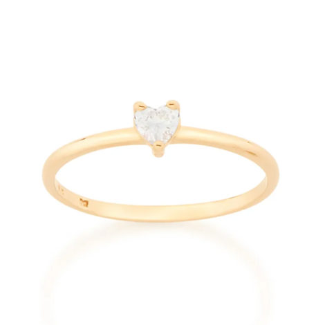 512619 anel solitario zirconia no formato de coracao pequeno colecao dia dos namorados marca rommanel loja revendedora brilho folheados 1