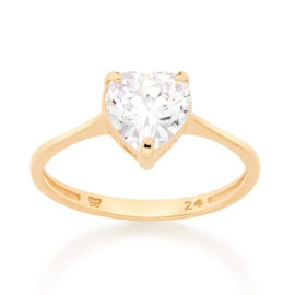512633 anel solitario zirconia no formato de coracao colecao dia dos namorados marca rommanel loja revendedora brilho folheados 1