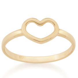 512711 anel delicado coracao vazado no centro aro liso colecao dia dos namorados marca rommanel loja revendedora brilho folheados 1