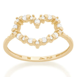 512756 anel skinny ring coracao vazado rodeado de zirconias colecao dia dos namorados marca rommanel loja revendedora brilho folheados