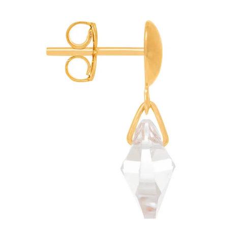 524233 brinco cristal no formato de coração pendurado com base oval colecao dia dos namorados marca rommanel loja revendedora brilho folheados 2